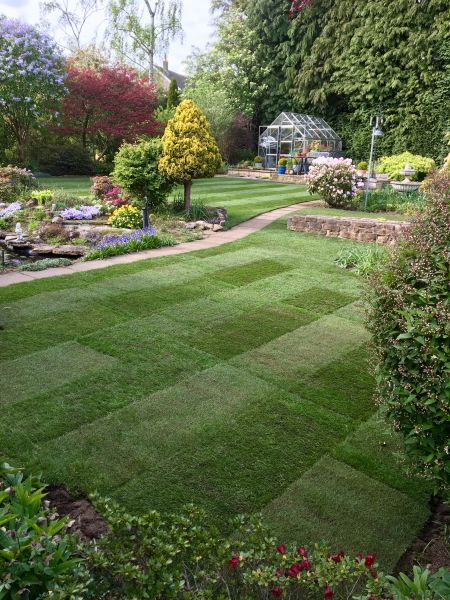 A little turf job at Ravenshead, Nottingham: Swipe To View More Images