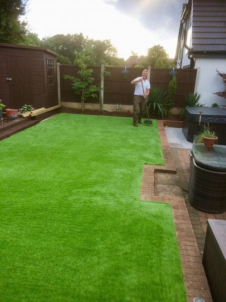 Laid Astro Turf (artificial grass) in Nuthall, Nottingham: Swipe To View More Images