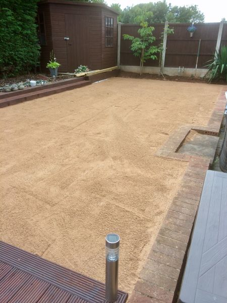 Preparation for laying Astro Turf (artificial grass) in Nuthall, Nottingham: Swipe To View More Images