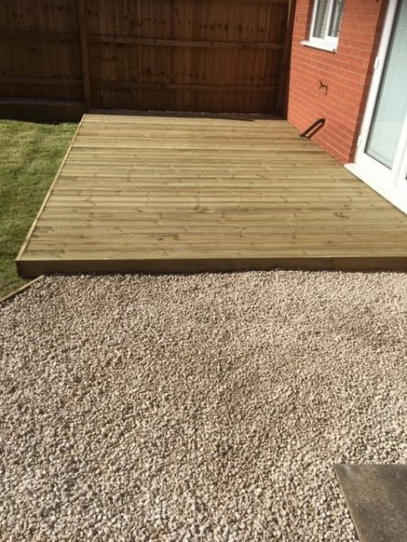 A small decking area, Hucknall, Nottingham: Swipe To View More Images