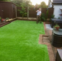 Laid Astro Turf (artificial grass) in Nuthall, Nottingham: Click Here To View Larger Image